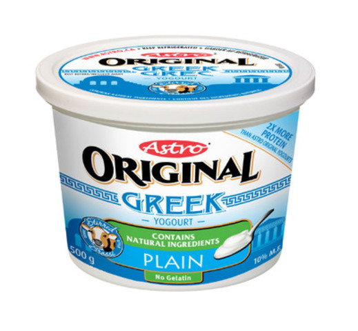 Astro Original Greek Yogourt - Plain (CNW Group/Parmalat Canada)