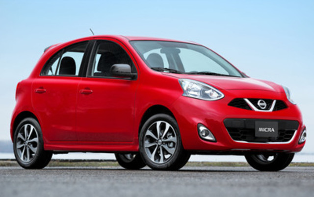 Today, at the Montreal Auto Show, Christian Meunier, president of Nissan Canada, debuted the car that will mark a new era of unbeatable value for Canadians when it arrives this spring - the all-new, 2015 Nissan Micra. (CNW Group/Nissan Canada Inc.)