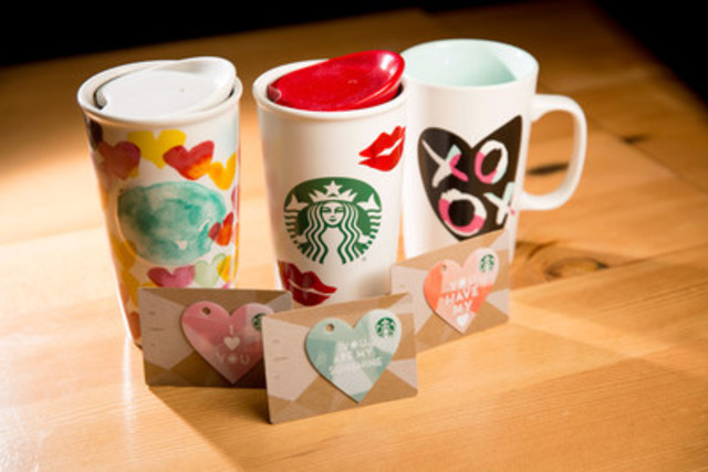 Starbucks offers a variety of ways for customers to express their love or appreciation. (CNW Group/Starbucks Coffee Canada)
