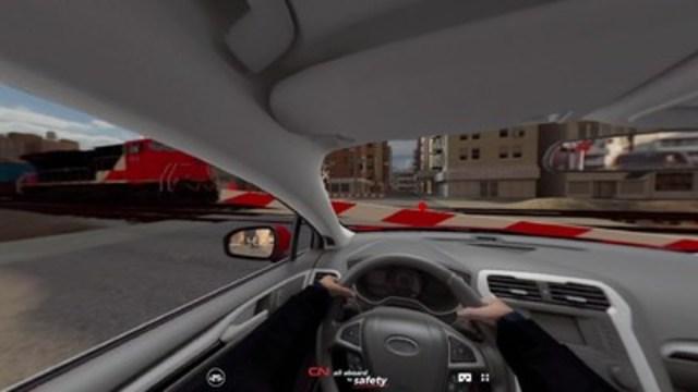 Le CN a créé des vidéos de réalité virtuelle 360° qui visent à informer les gens des conséquences possiblement dévastatrices des intrusions et du non-respect des dispositifs de sécurité ferroviaire. (Groupe CNW/La Compagnie des chemins de fer nationaux du Canada)