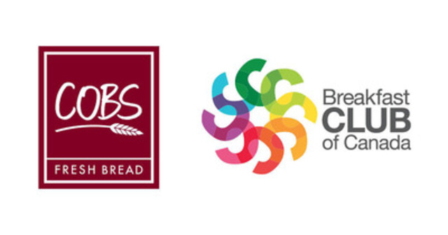 COBS Bread logo and Breakfast Club of Canada logo (CNW Group/COBS Bread)