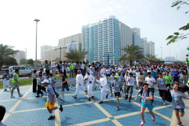 Thousands take part in the 2012 Terry Fox Run in Abu Dhabi (CNW Group/The Terry Fox Foundation)