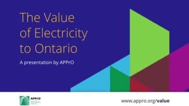 Electricity is the lifeblood of Ontario's economy, and APPrO underlines that fact in this new infographic which dramatizes the impact power generation has on investment, job creation and environmental protection and takes viewers through a variety of interesting facts and figures. http://www.appro.org/value