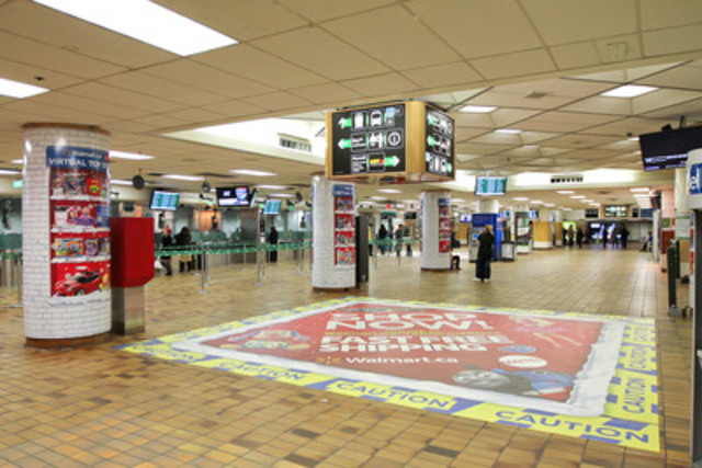 The Walmart Mattel Virtual Toy Store will be available on ten GO Train cars travelling in and out of the Greater Toronto Area , starting November 4, 2013 and running four weeks (CNW Group/Mattel Canada, Inc.)