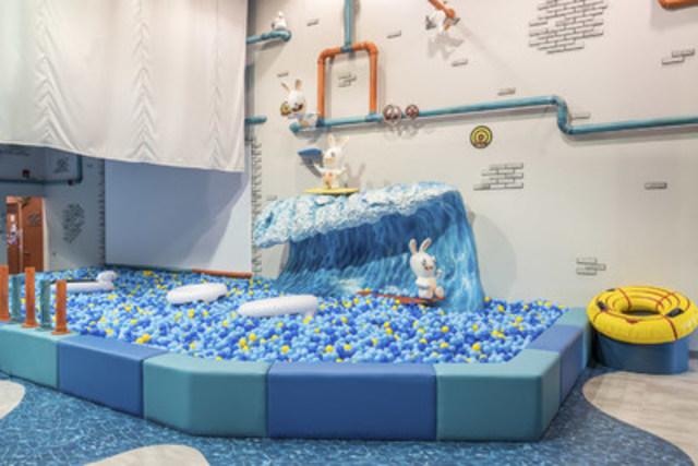L'usine de traitement des eaux au Centre d'amusement Les Lapins Crétins (Groupe CNW/Ubisoft)