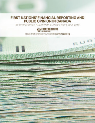 Accountability, Transparency, and Responsibility of First Nations Governments (CNW Group/Frontier Centre for Public Policy)