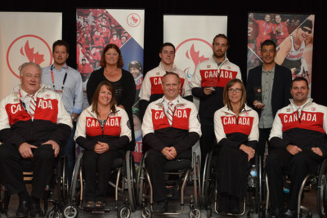 Athletes in para-alpine skiing, para-Nordic skiing and wheelchair curling took centre stage today as stars of the Sochi 2014 Canadian Paralympic Team and the broader Canadian Paralympic movement were fêted at the 2014 Canadian Paralympic Sport Awards ceremony. (CNW Group/Canadian Paralympic Committee (CPC))