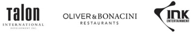 Oliver & Bonacini Restaurants and INK Entertainment Announce Agreement with Trump International Hotel & Tower® Toronto (CNW Group/Oliver & Bonacini Restaurants)