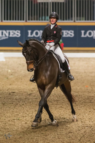 Canadian Olympian Belinda Trussell of Stouffville, ON, won the $20,000 Royal Invitational Dressage Cup, presented by Butternut Ridge, riding Anton on Thursday night, November 12, at the Royal Horse Show®. (CNW Group/Royal Agricultural Winter Fair)