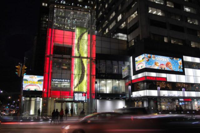 Integrated Digital Media and Lighting Program. (CNW Group/Kramer Design Associates)