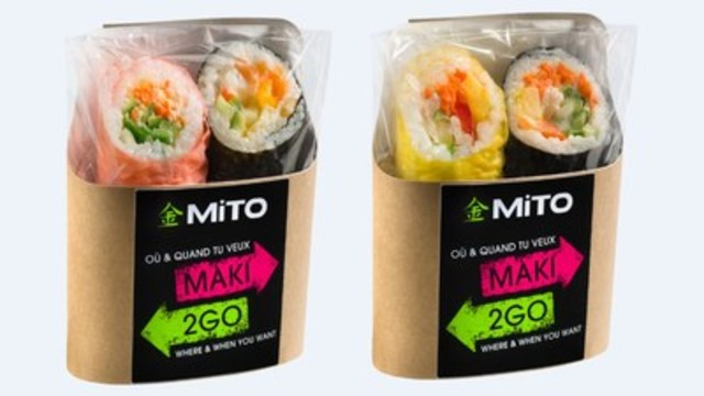 IGA exclusive – new MAKI2GO sushi sandwiches from the MITO Sushi company (CNW Group/IGA)
