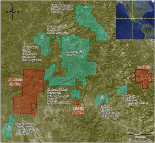 Montana de Oro Claim Map (CNW Group/Revolution Resources Corp.)