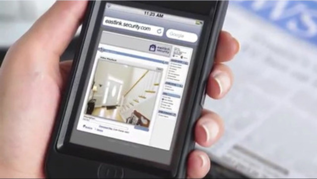 With Eastlink Security and Automation, you can monitor, protect and control remotely alarms, cameras, temperature & lighting, and door locks, and even receive text or email alerts including photos when family members arrive home all from your mobile device. (CNW Group/Eastlink)