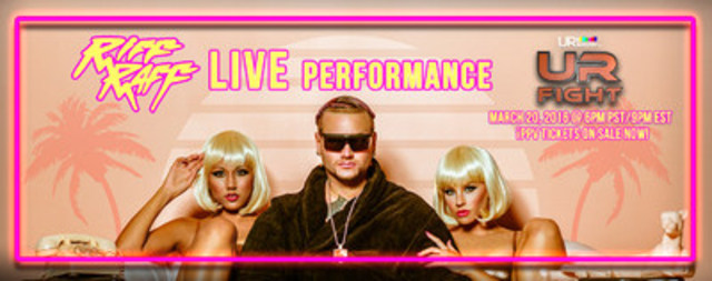 RiFF RAFF joins UR FIGHT in Phoenix Sunday March 20th for a special performance - get your tickets to live stream at URshow.tv (CNW Group/URshow.tv)