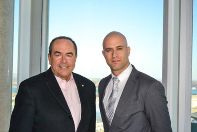 Jean-François Lépine nouveau porte-parole d'Uniktour et Philippe Bergeron président d'Uniktour. (Groupe CNW/Uniktour)