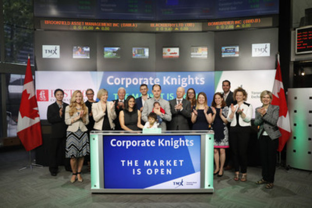 Toby Heaps, Chief Executive Officer, Corporate Knights, joined Steven Mills, Regional Head, TSX Company Services, Toronto Stock Exchange & TSX Venture Exchange to open the market to celebrate the release of Corporate Knights' 2016 Best 50 Corporate Citizens in Canada ranking and the Top Foreign Corporate Citizens list. The annual Best 50 ranking was created by Corporate Knights Inc. in 2002. For more information please visit www.corporateknights.com/reports/2016-best-50/ (CNW Group/TMX Group Limited)