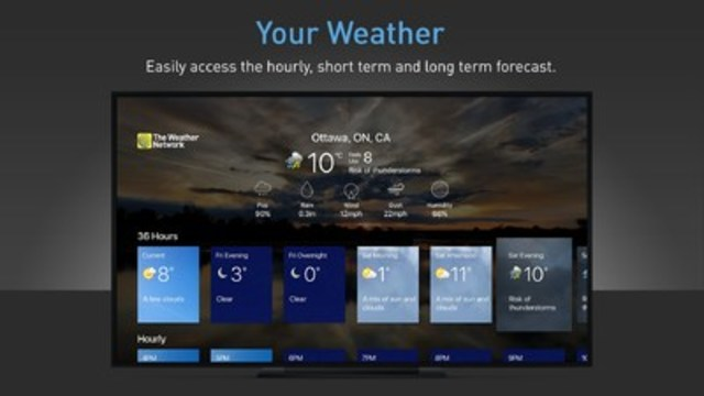 The Weather Network launches new Apple TV app to bring personalized and local forecasts to Apple TV users (CNW Group/Pelmorex Media Inc.)