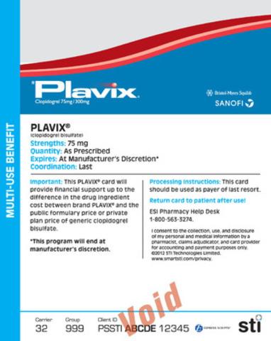 Plavix® Prescription Benefit eCard (CNW Group/STI Technologies Inc.)