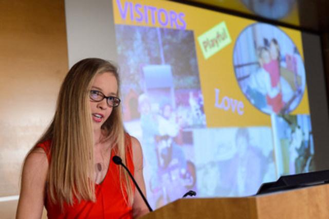 Alyssa Brown, ambassadeur du champagne de Cape Breton, Cape Breton, Nouvelle -Écosse (Groupe CNW/Hôpital Shriners pour enfants)