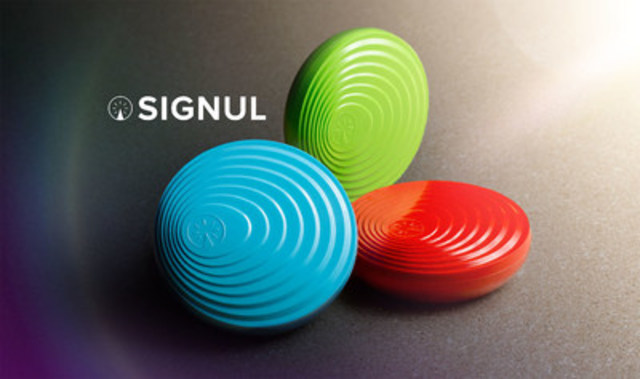 SIGNUL is a personal location-based automation system that leverages IFTTT to simplify today''s most popular consumer products including home automation, social media and more. SIGNUL was developed by IoT Design Shop, the Internet of Things Innovation Centre at Finger Food Studios. SIGNUL is available for purchase at http://signul.io/ (CNW Group/IoT Design Shop)
