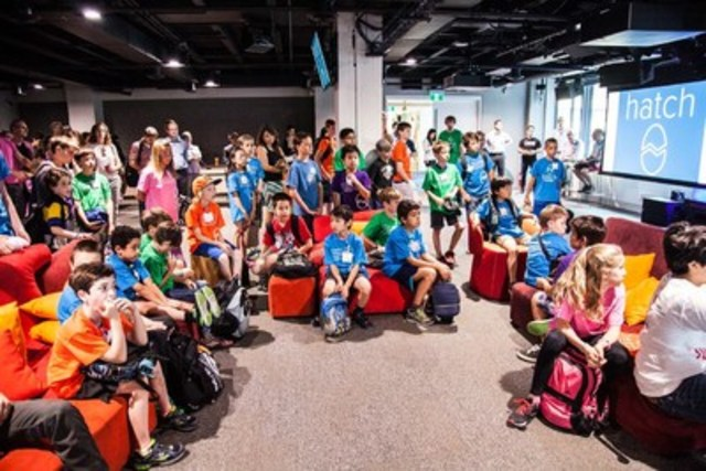Kids coding to resolve Toronto problems at Coding All Stars (CNW Group/Hatch Canada)