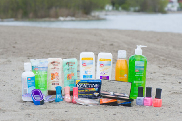 Sun care is the first step in any summer beauty routine and Shoppers Drug Mart offers many SPF options in lotions and spray-on formulas. For stylish summer manicures and pedicures, check out the season's on-trend nail polish shades, and for outdoor activities, pack allergy medications, after-bite and cooling facial towelettes (CNW Group/Shoppers Drug Mart Corporation)