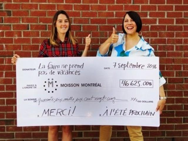 Florence Longpré et Sylvie Bourbonnière, directrice, communications marketing et développement philanthropique à Moisson Montréal. (Groupe CNW/MOISSON MONTREAL)
