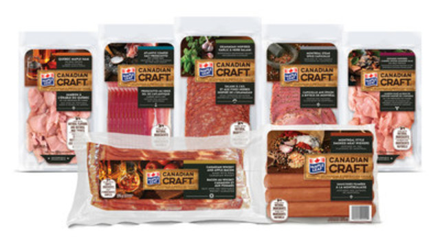 Maple Leaf Canadian Craft features seven new craft meats inspired by local flavours from across Canada (CNW Group/Maple Leaf Foods Inc.)