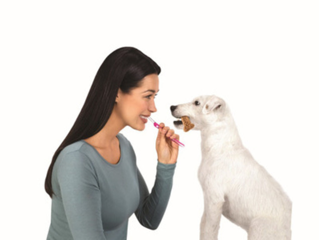 Milk-Bone* brand dog treats are changing the way pet parents think about their dog's oral health with the introduction of Milk-Bone* Brushing Chews* dental treats. The new product is available wherever Milk-Bone products are sold. (CNW Group/DLM Foods Canada) (CNW Group/DLM Foods Canada Corp.)