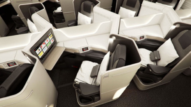 Fauteuils-lits ovés (Groupe CNW/Air Canada)
