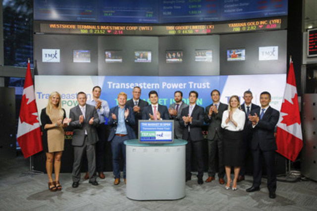 Ravi Sood, Chairman, Transeastern Power Trust (TEP.UN) joined Tim Babcock, Director, Listed Issuer Services, TSX Venture Exchange to open the market. Transeastern Power Trust is an independent power producer that develops, builds, owns, and operates facilities that produce electricity from renewable energy sources. Transeastern Power Trust (TEP.UN) commenced trading on TSX Venture Exchange on June 2, 2014. For more information please visit transeastern.com. (CNW Group/TMX Group Limited)