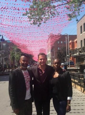 Jasmin Roy accompagné d'Yves Ulysse et Patricia Jean d'Arc en Ciel d'Afrique. (Groupe CNW/Fondation Jasmin Roy)