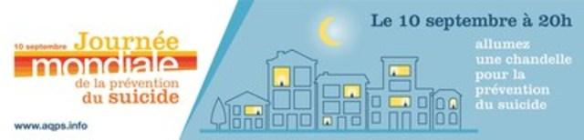 Logo : Journée mondiale de la prévention du suicide (Groupe CNW/Association québécoise de prévention du suicide)