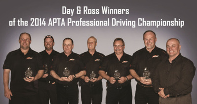 From left to right: Jason Kilfoil (Hartland NB), Stephen MacPhee (Yarmouth NS), Allison Godreau (Hartland NB), Herb Peters (Moncton NB), Troy Snow (Dartmouth NS), Bob MacKellar (Hartland NB), Joe Roy - Day & Ross Driver Safety Supervisor and Chair Regional Championships Committee (Hartland NB) (CNW Group/Day & Ross inc.)