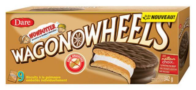 Les nouveaux biscuits Wagon Wheels Wowbutter(MD) goûtent le beurre d'arachides mais n'en contiennent pas (Groupe CNW/Aliments Dare Limitée)