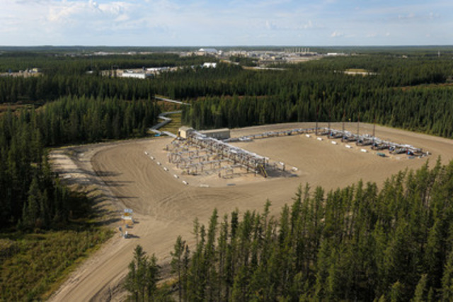 A steam assisted gravity drainage well pad at Cenovus's Christina Lake oil sands operation in northern Alberta (CNW Group/Cenovus Energy Inc.)
