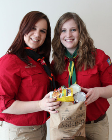 Good Turn Week Idea - Collect Food for the Food Bank. Good Turn Week is April 26-May 4, 2014. (CNW Group/Scouts Canada)