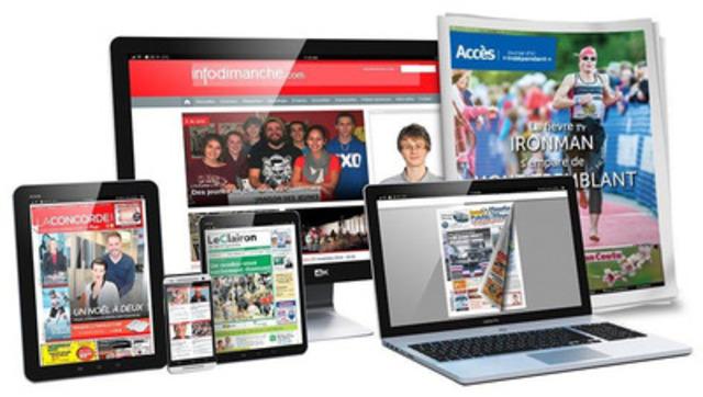 Québec's independent newspapers acquire innovative multiplatform technology  (CNW Group/Hebdos Québec)