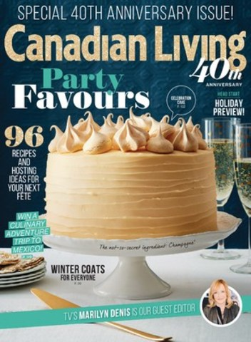 Special 40th anniversary issue of Canadian Living magazine hits newsstands (CNW Group/TVA Group)