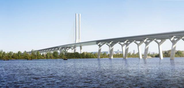 Le nouveau pont Champlain (Groupe CNW/Conseil canadien pour les partenariats public-privé)