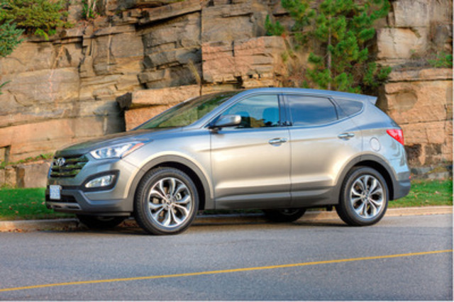 The 2013 Hyundai Santa Fe 2.0T was named 2013 Canadian Utility Vehicle of the Year by the Automobile Journalists Association of Canada (AJAC). (CNW Group/Hyundai Auto Canada Corp.)