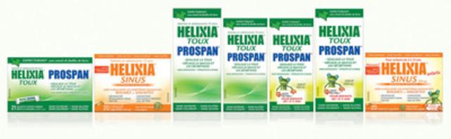 Helixia : une gamme complète de remèdes contre la toux et le rhume éprouvés en clinique et convenant aux enfants et aux personnes qui tolèrent mal certains produits offerts en vente libre. (Groupe CNW/Pendopharm)