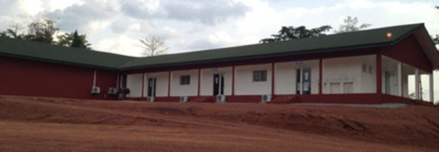 Camp nearing completion; canteen and other facilities shown above (CNW Group/Endeavour Mining Corporation)