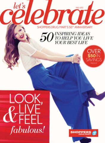 To mark its 50th anniversary, Shoppers Drug Mart has produced a commemorative magazine, Let's Celebrate, that takes a look back at five decades of beauty trends. (CNW Group/Shoppers Drug Mart Corporation)
