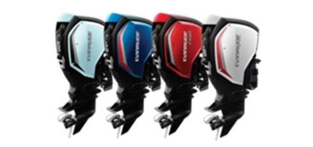 Les nouveaux modèles de la gamme Evinrude E-TEC G2. (Groupe CNW/BRP Inc.)