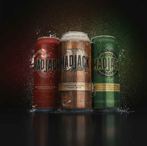 New Mad Jack Premium Hard Root Beer and Mad Jack Premium Ginger Flavoured Lager are available in 473 mL cans and 355 mL cans. (CNW Group/Molson Coors Canada)