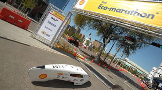 Véhicule D'Université Laval, Shell Eco-marathon Americas (Groupe CNW/Shell Canada Limitée)