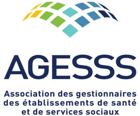 Logo : Association des gestionnaires des établissements de santé et de services sociaux (Groupe CNW/Association des gestionnaires des établissements de santé et de services sociaux (AGESSS))