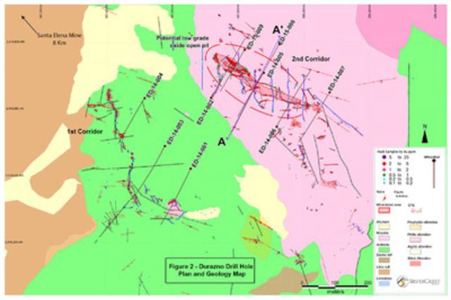 Durazno Figure 2 (CNW Group/SilverCrest Mines Inc.)