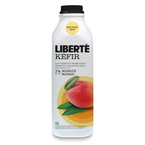 Liberté Kéfir, lait fermenté probiotique, saveur mangue (Groupe CNW/Liberté)